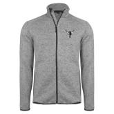Grey Heather Fleece Jacket-Hornet Bevel L