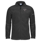 Columbia Full Zip Charcoal Fleece Jacket-Hornet Bevel L