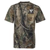Realtree Camo T Shirt w/Pocket-Hornet Bevel L
