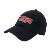 Black Twill Unstructured Low Profile Hat-Lynchburg Hornets