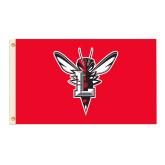 3 ft x 5 ft Flag-Hornet Bevel L