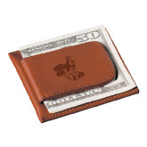 Cutter & Buck Chestnut Money Clip Card Case-Hornet Engraved