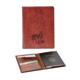 Fabrizio Brown RFID Passport Holder-Hornet Engraved
