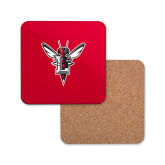 Hardboard Coaster w/Cork Backing-Hornet Bevel L