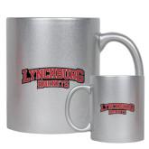 11oz Silver Metallic Ceramic Mug-Lynchburg Hornets