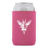 Collapsible Hot Pink Can Holder-Hornet Bevel L