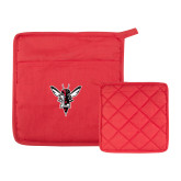 Quilted Canvas Red Pot Holder-Hornet Bevel L