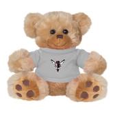 Plush Big Paw 8 1/2 inch Brown Bear w/Grey Shirt-Hornet Bevel L