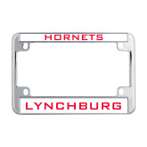 Metal Motorcycle License Plate Frame in Chrome-Hornets