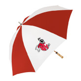62 Inch Red/White Umbrella-Hornet