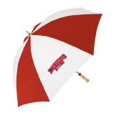 62 Inch Red/White Umbrella-Lynchburg Hornets