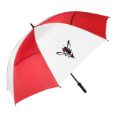 62 Inch Red/White Vented Umbrella-Hornet Bevel L