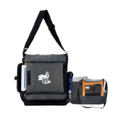 Impact Vertical Black Computer Messenger Bag-Hornet