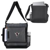 Impact Vertical Black Computer Messenger Bag-Hornet Bevel L