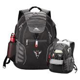 High Sierra Big Wig Black Compu Backpack-Hornet Bevel L