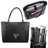 Sophia Checkpoint Friendly Black Compu Tote-Hornet Bevel L