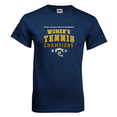 Navy T Shirt-2014 Womens Tennis Champions