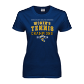 Ladies Navy T Shirt-2014 Womens Tennis Champions