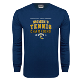 Navy Long Sleeve T Shirt-2014 Womens Tennis Champions