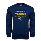 Champion Navy Fleece Crew-2014 Womens Tennis Champions