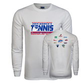 White Long Sleeve T Shirt-2014 Womens Tennis Championship Mercer County