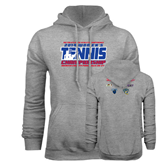 Champion Grey Fleece Hood-2014 Womens Tennis Championship Mercer County