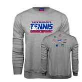 Champion Grey Fleece Crew-2014 Womens Tennis Championship Mercer County