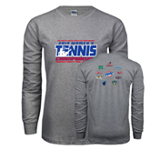 Grey Long Sleeve T Shirt-2014 Womens Tennis Championship Mercer County