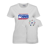 Ladies White T Shirt-2014 Womens Tennis Championship Mercer County
