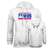 Champion White Fleece Hood-2014 Womens Tennis Championship Mercer County