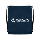 Maricopa Comm Navy Drawstring Backpack-Primary Mark