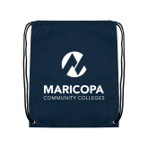 Maricopa Comm Navy Drawstring Backpack-Primary Mark Stacked
