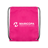 Maricopa Comm Pink Drawstring Backpack-Primary Mark