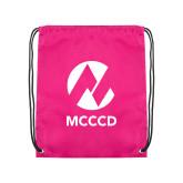Maricopa Comm Pink Drawstring Backpack-Acronym