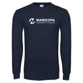 Maricopa Comm Navy Long Sleeve T Shirt-Primary Mark