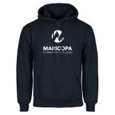 Maricopa Comm Navy Fleece Hoodie-Primary Mark Stacked