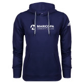 Maricopa Comm Adidas Climawarm Navy Team Issue Hoodie-Primary Mark