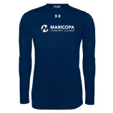 Maricopa Comm Under Armour Navy Long Sleeve Tech Tee-Primary Mark