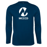 Maricopa Comm Performance Navy Longsleeve Shirt-Acronym