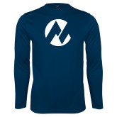 Maricopa Comm Performance Navy Longsleeve Shirt-Icon