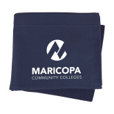 Maricopa Comm Navy Sweatshirt Blanket-Primary Mark Stacked