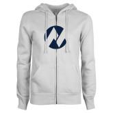 Maricopa Comm ENZA Ladies White Fleece Full Zip Hoodie-Icon