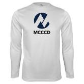 Maricopa Comm Performance White Longsleeve Shirt-Acronym