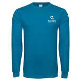 Maricopa Comm Sapphire Long Sleeve T Shirt-Primary Mark Stacked