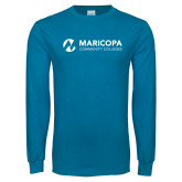 Maricopa Comm Sapphire Long Sleeve T Shirt-Primary Mark