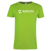 Maricopa Comm Ladies Lime Green T Shirt-Primary Mark