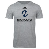 Maricopa Comm Adidas Sport Grey Logo T Shirt-Primary Mark Stacked