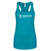 Maricopa Comm Next Level Ladies Tahiti Blue Ideal Racerback Tank-Primary Mark