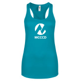 Maricopa Comm Next Level Ladies Tahiti Blue Ideal Racerback Tank-Acronym