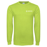 Maricopa Comm Lime Green Long Sleeve T Shirt-Primary Mark